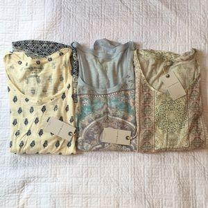 3 NWT LUCKY TEE bundle
